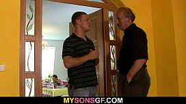 Horny old dad licks...