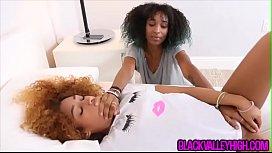 Hot interracial threesome surprise...