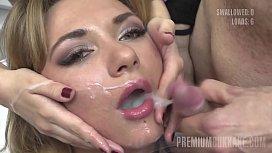 Premium Bukkake - Katy swallows...