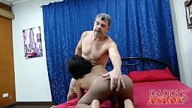 Daddy fucking horny asian...