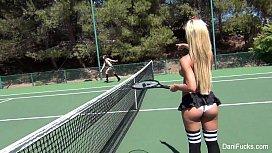 Dani Daniels Topless Tennis...