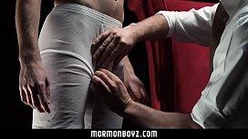 Dominant priest spanks naughty...