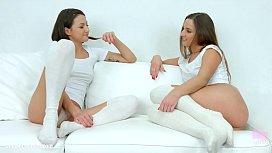 Lesbians Amirah Adara and...