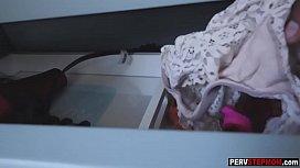 Blonde MILF stepmom caught...