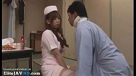 Japanese busty nurse in...