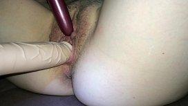 She loves these dildos...
