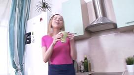 Skinny Girl Alleks Trasks Ass Fucked In The Kitchen