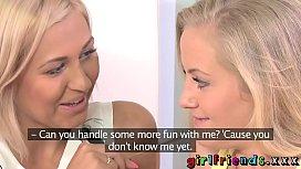 Girlfriends Gorgeous blondes get...