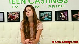 Casting teen jizzed in...