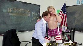 Uniformed pornstar rimmed...