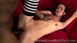 Little Asian beauty takes...