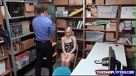 Cute teen blonde thief...