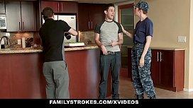 FamilyStrokes - Redhead Military Wife...