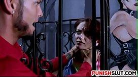 Caged slut Lola Fae...