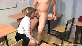 Russian mature teacher 8...