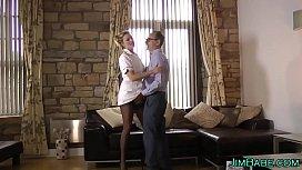 Brit nurse in stockings...