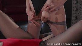 Slender Girl in Pantyhose...