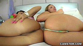 Threesome with webcam cheecks...