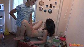 18videoz - Kitchen sex with...