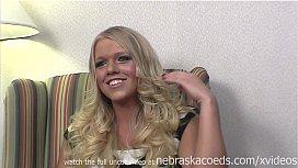 Nervous iowa blonde does...