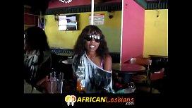 Cute lesbians in African...
