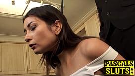 Pretty submissive slut tied...