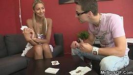 Czech blonde cheats him...
