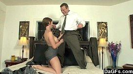 Busty secretary horny for...