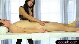 Sexy masseuse pounded by...