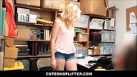 Blonde Teen Caught Stealing...