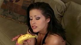 Horny girl sucking a...