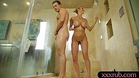 Huge boobs masseuse railed...