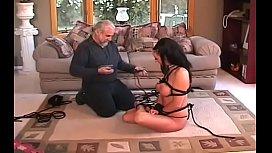 Woman endures heavy bondage sex at home in amateur clip