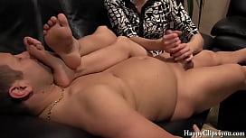 Oily cock massage small...