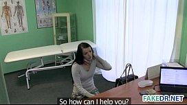 Brunette babe gets her doctor fucked ...