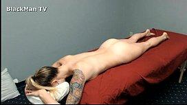Black Man Massages white...