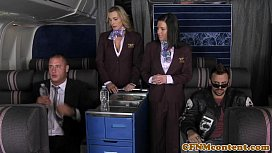 CFNM Tanya Tate joins the mile high club image