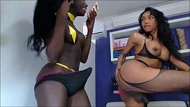 Interracial Shemale Couple Having Fun