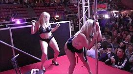 Lesbian public show on...