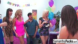 Samantha celebrates her birthday...