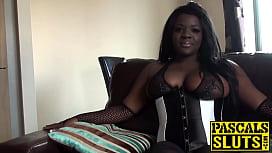 Chubby Ebony girl with...