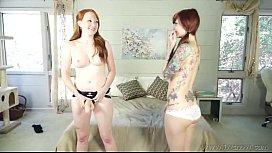 Ginger lesbian fucks tattooed...