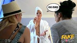 Fake Hostel Lesbian landlady...