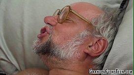 Teen tasted by grandpa...
