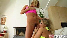 Fist Flush Blonde girlfriends...