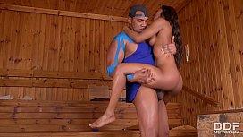 Sauna guest Jasmine Webb...