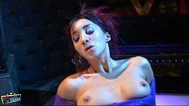 Bound slut watches couple fuck