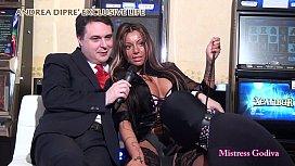 Mistress Godiva ballbusts a...