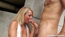 Hot blonde old cougar...