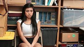 Asian teen shoplifter caught...